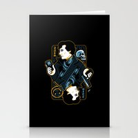 221b Stationery Cards featuring The Detective of 221B by WinterArtwork