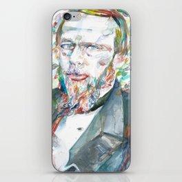 FYODOR DOSTOYEVSKY - watercolor portrait.4 iPhone Skin