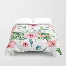 Pink Roses Duvet Cover
