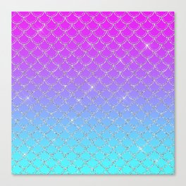 Gradient Mermaid Scales Canvas Print