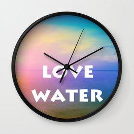 love water 1 Wall Clock