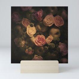 Green apples and Roses Mini Art Print
