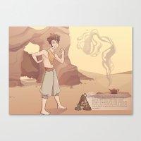 aladdin Canvas Prints featuring ALADDIN by Jaimie Hutton