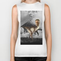 christopher walken Biker Tanks featuring ChristopheRAPTOR Walken - Christopher Walken Velociraptor by Kalynn Burke