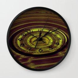 Hands of Time Yellow Rippling Water Art Motif Wall Clock