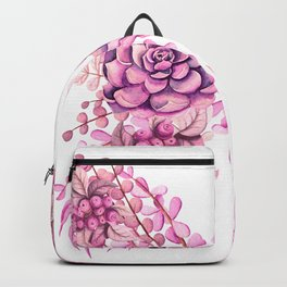 Flowery Pink Princess Butterfly Backpack