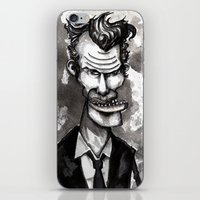 tom waits iPhone & iPod Skins featuring Tom Waits by Grant Hunter