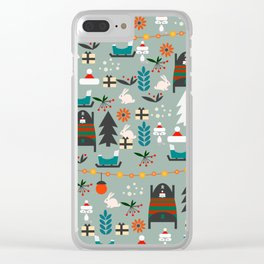 Everybody's waiting for Santa Clear iPhone Case