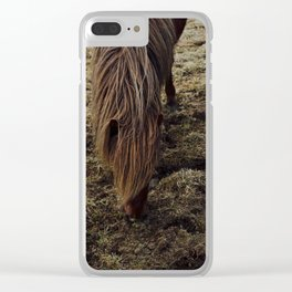 Horses in Iceland Clear iPhone Case