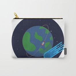 Earth Meteor Space Print Carry-All Pouch
