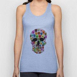 colorfull skull Unisex Tank Top