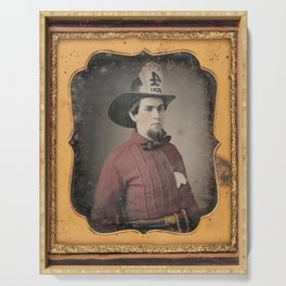 Portrait of a Fireman - Daguerreotype Serving Tray