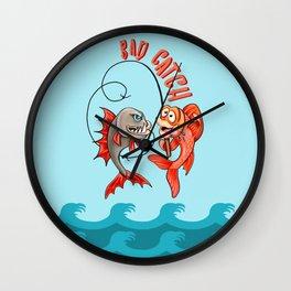 Fishaholic: Bad Catch! Wall Clock