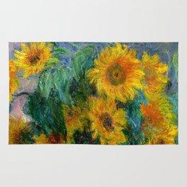 Bouquet of Sunflowers - Claude Monet Rug