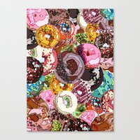 donuts Canvas Prints featuring Donuts by Tina Mooney