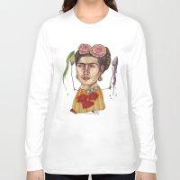 frida Long Sleeve T-shirts featuring FRIDA by busymockingbird