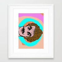 tom selleck Framed Art Prints featuring Tom Selleck by Mary Naylor