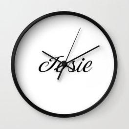 Name Josie Wall Clock