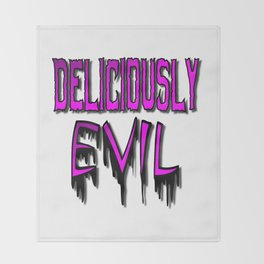 Deliciously Evil Throw Blanket