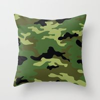 camo Throw Pillows featuring Camo by anhnt32