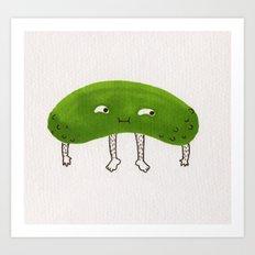 Pickle Boy Art Print