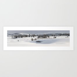 Yellowstone National Park - Blacktail Deer Plateau Panorama Art Print