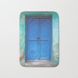 Blue Indian Door Bath Mat