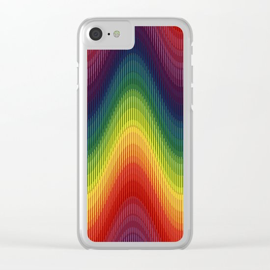 Rainbow Wave Clear iPhone Case