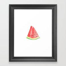 Watermelon Red Piece Framed Art Print