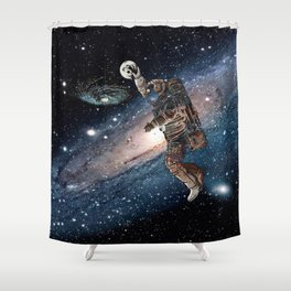 Space Dunk Shower Curtain