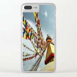 Boudhanath stupa in Nepal Clear iPhone Case