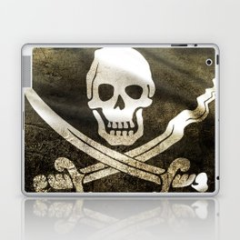 Pirate Skull in Cross Swords Laptop & iPad Skin