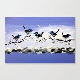 Purple Art with Gray Canvas Print