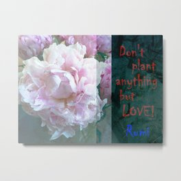 Don't Plant ANYthing but LOVE! Metal Print