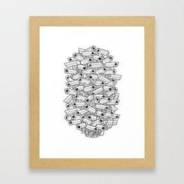 Surveillance Frenzy Framed Art Print