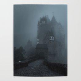 Eerie Castle Eltz in the mist Poster