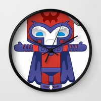 magneto Wall Clocks featuring MAGNETO ROBOTIC by We Are Robotic