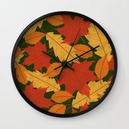 Fall Arives Wall Clock