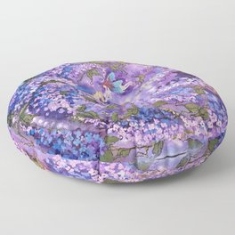 Whispers in the Lilacs Floor Pillow