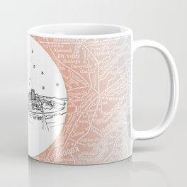 Chattanooga, Tennessee City Skyline Illustration Drawing Coffee Mug