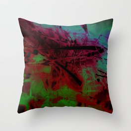 """""""The Study Of Reeds: Solarized"""" Throw Pillow"""