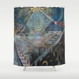 """I Are; We Am"" Shower Curtain"