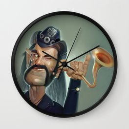 Lemmy hearing aid Wall Clock