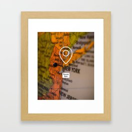 NYC you are here Framed Art Print