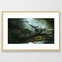 Abandoned X-Wing Framed Art Print