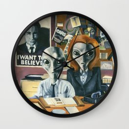 X-Files - Agent Grey Wall Clock