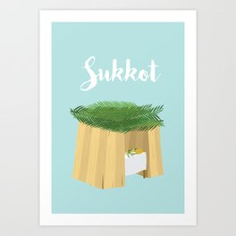 Warm Sukkot Booth of Togetherness and love Art Print