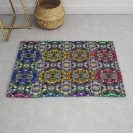 Vintage Colored Beads Rug