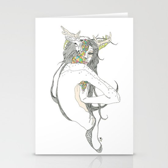 colour blind II Stationery Cards