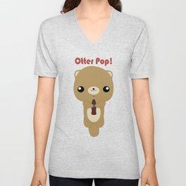 Kawaii Otter  Unisex V-Neck